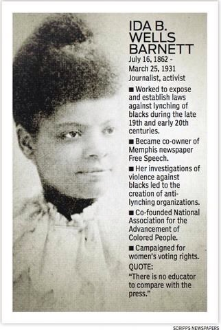 research paper on ida b wells barnett Ida b wells-barnett: ida bell wells-barnett, african american journalist who led an antilynching crusade in the united states in the 1890s.